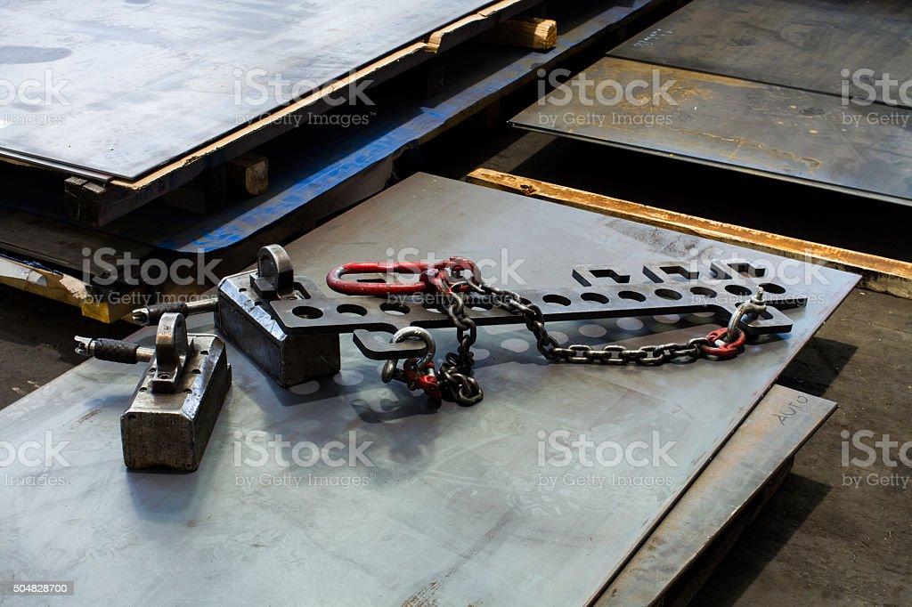 steel hooks stock photo