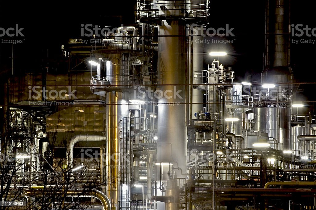 Steel Industry at Night Series Nr.2 royalty-free stock photo