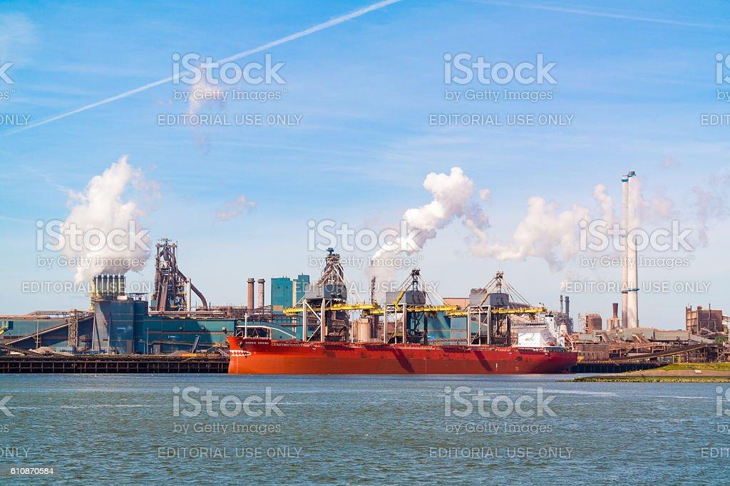 Steel industry in IJmuiden near Amsterdam, Netherlands stock photo