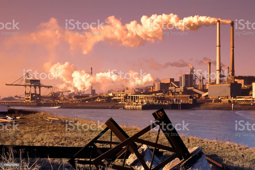 Steel industry stock photo