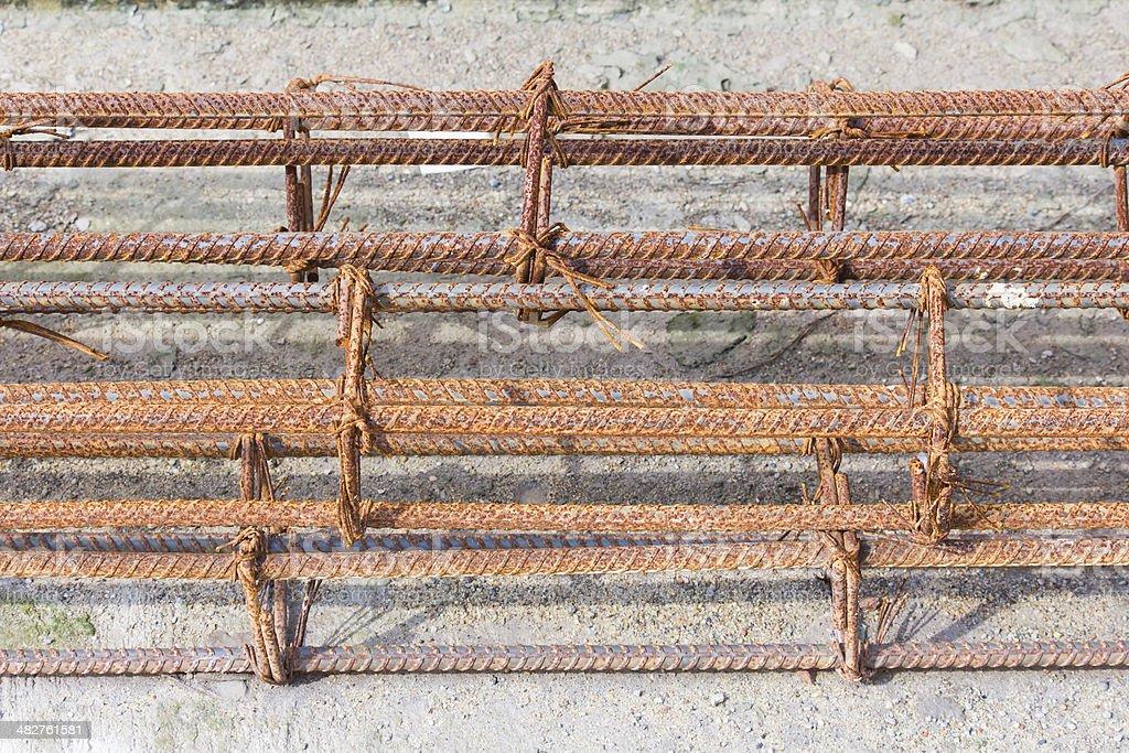 Steel Iron raw wire stock photo