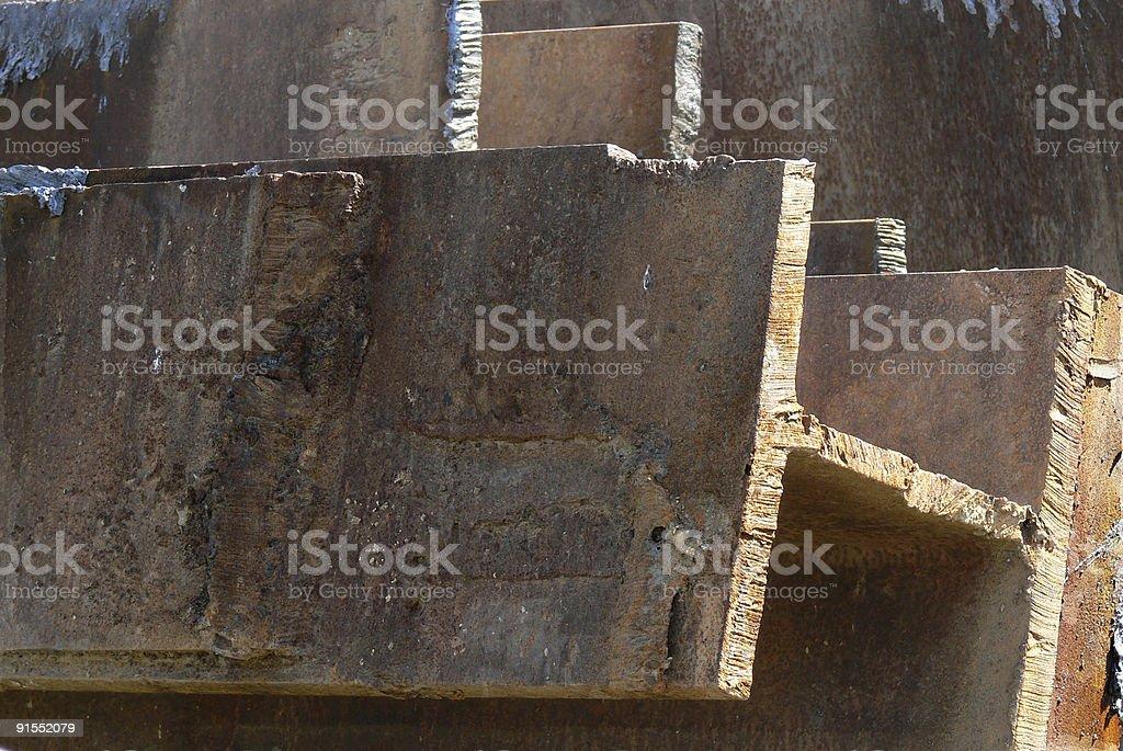 O aço é Real (grande foto royalty-free