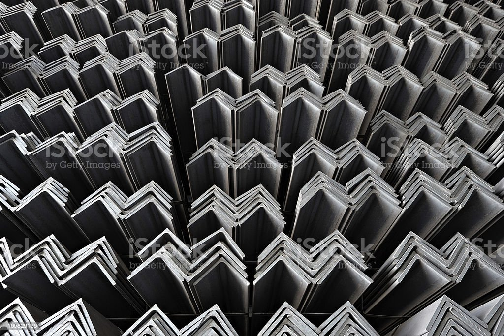 Steel jagged lines all in a row royalty-free stock photo