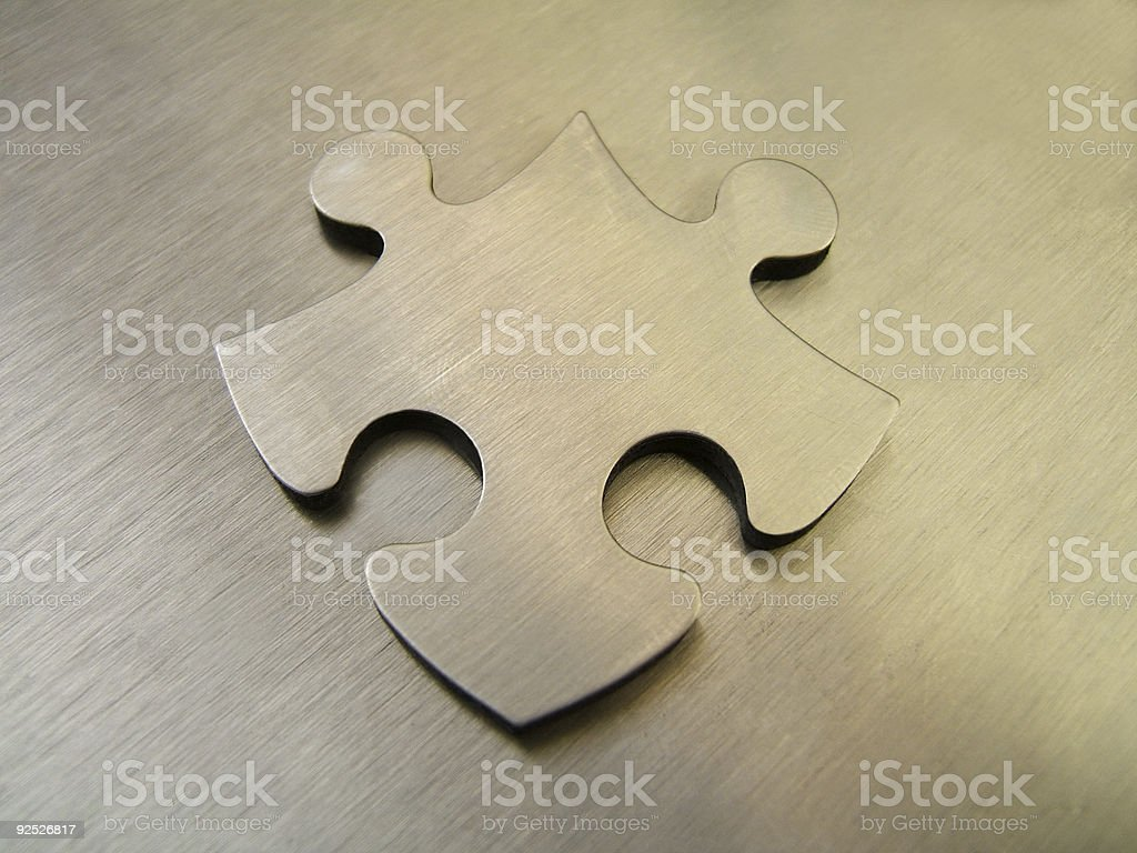 Steel jigsaw royalty-free stock photo
