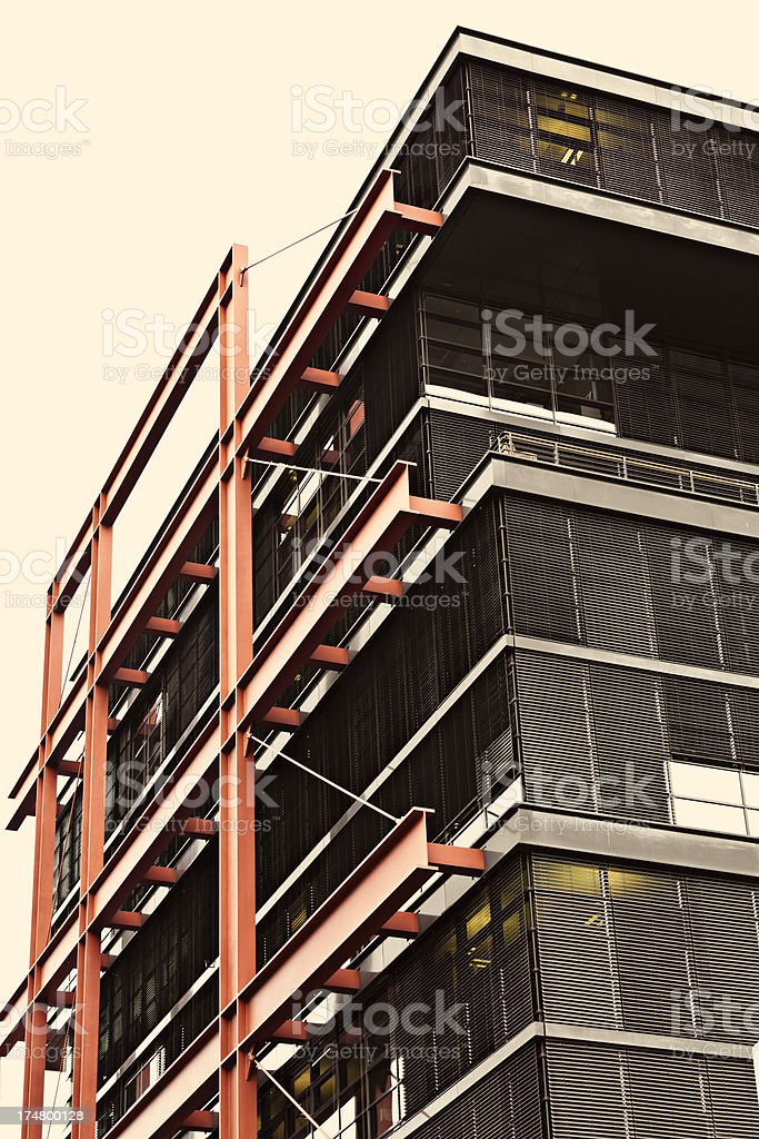 steel joists architecture royalty-free stock photo