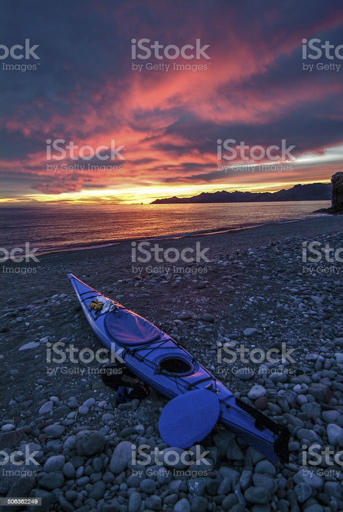 Baja Kayak Sunrise 4 stock photo