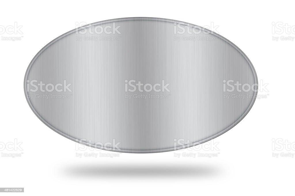 steel label isolate stock photo