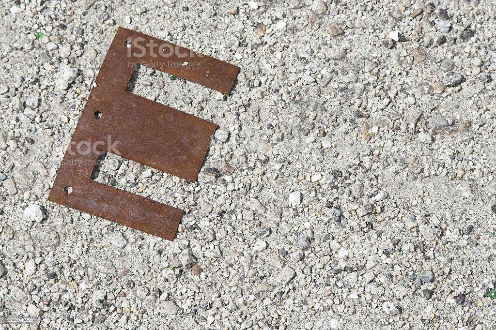 Steel Letter E stock photo