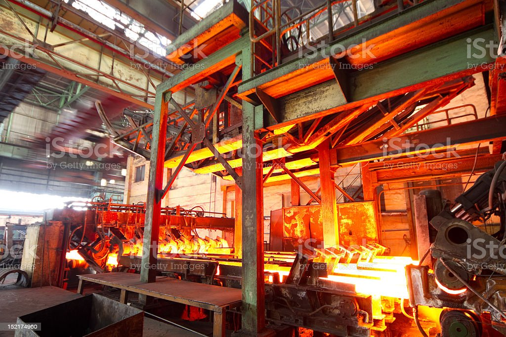 Steel making industry stock photo