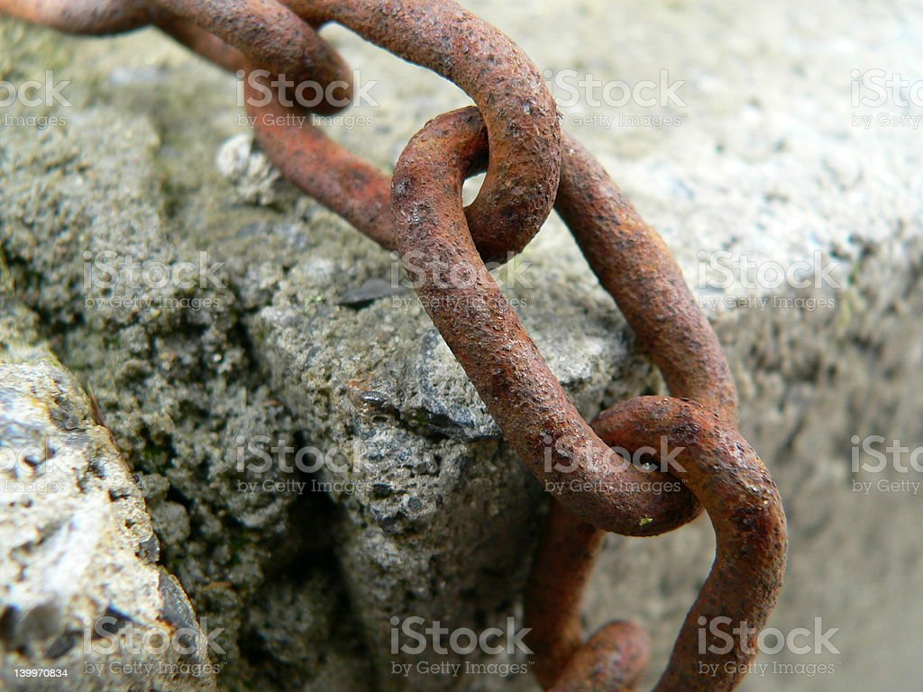 Steel maritim Chain stock photo
