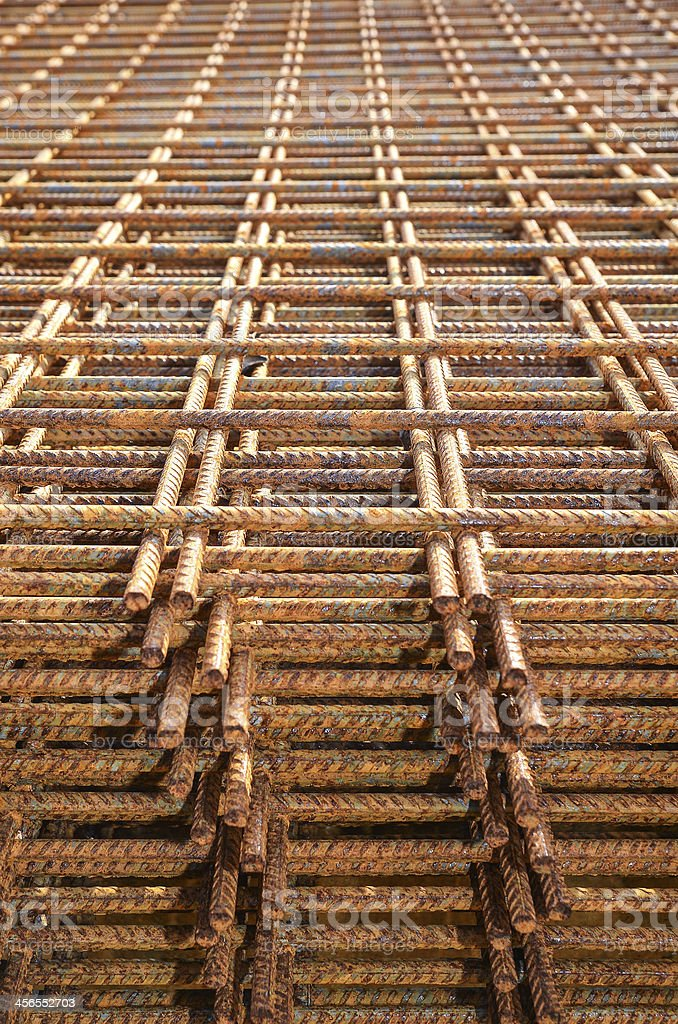 Steel mesh for concrete reinforcement royalty-free stock photo