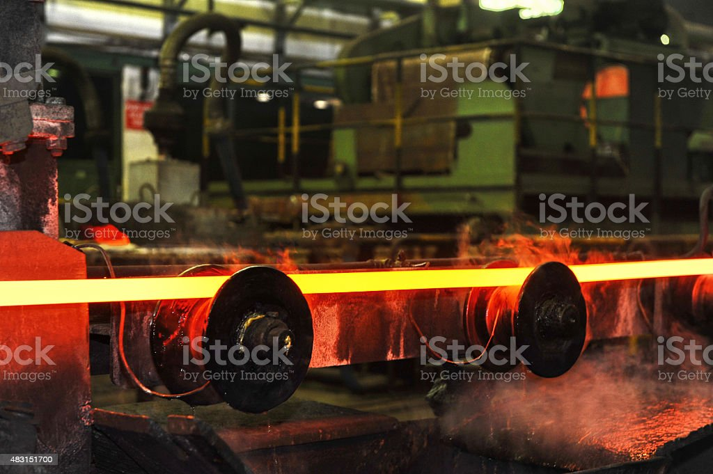 Steel mill stock photo