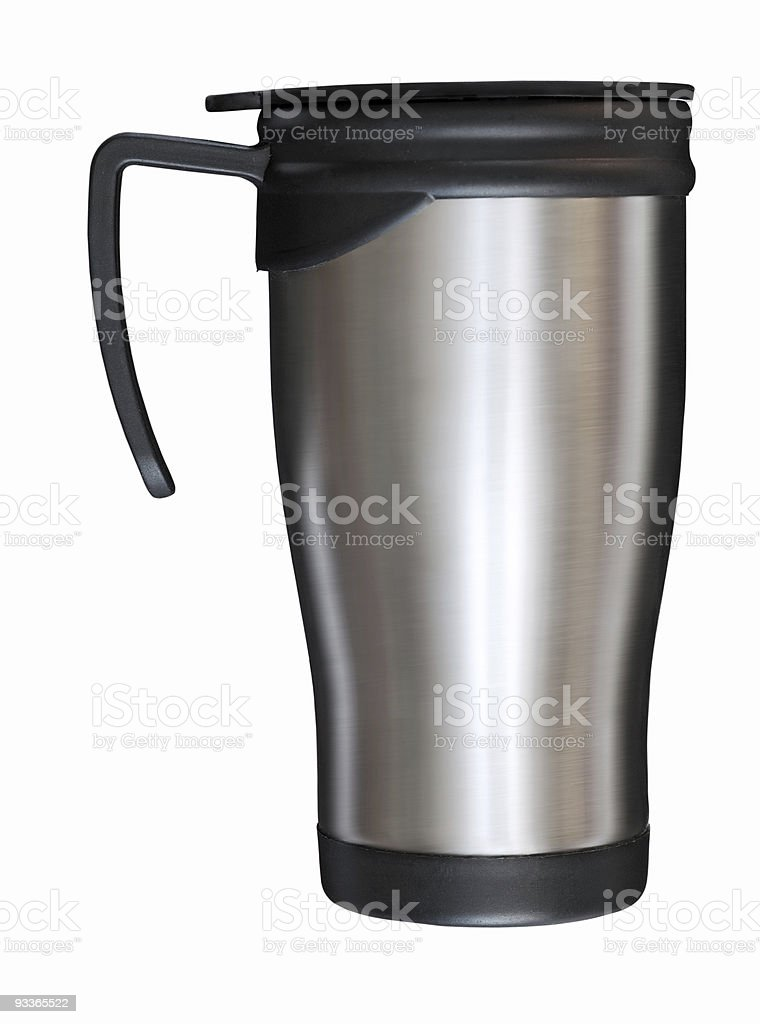 steel mug stock photo