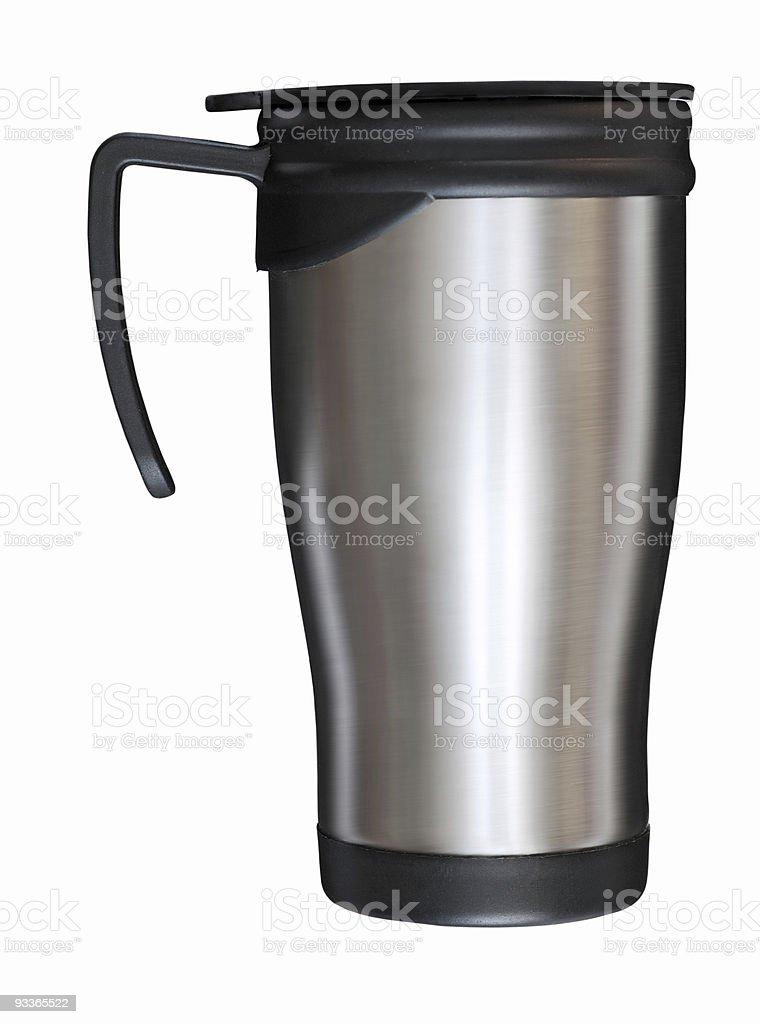 steel mug stock photo