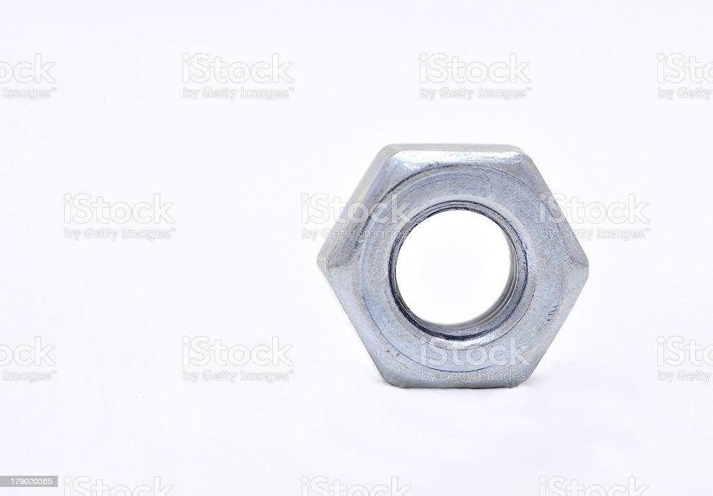 Steel nut royalty-free stock photo