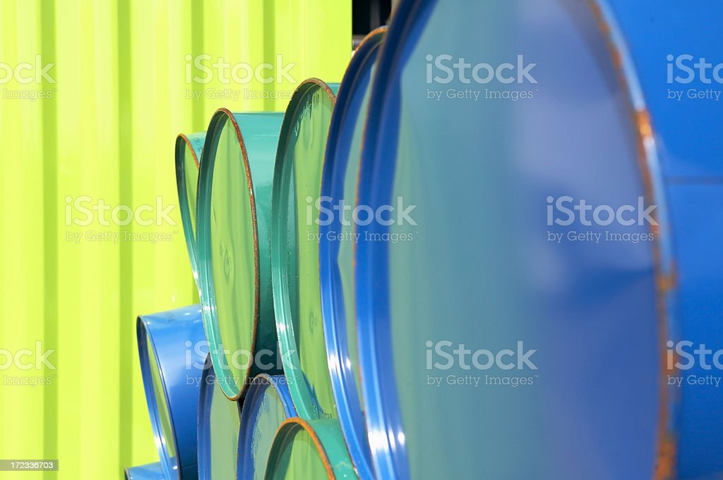 Steel Oil Drum royalty-free stock photo