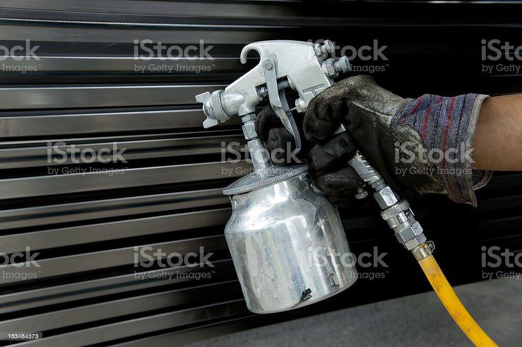 steel painter stock photo