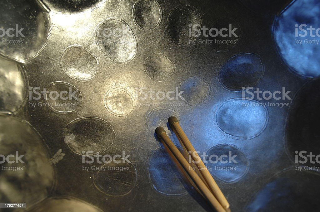 Steel Pan & Sticks stock photo
