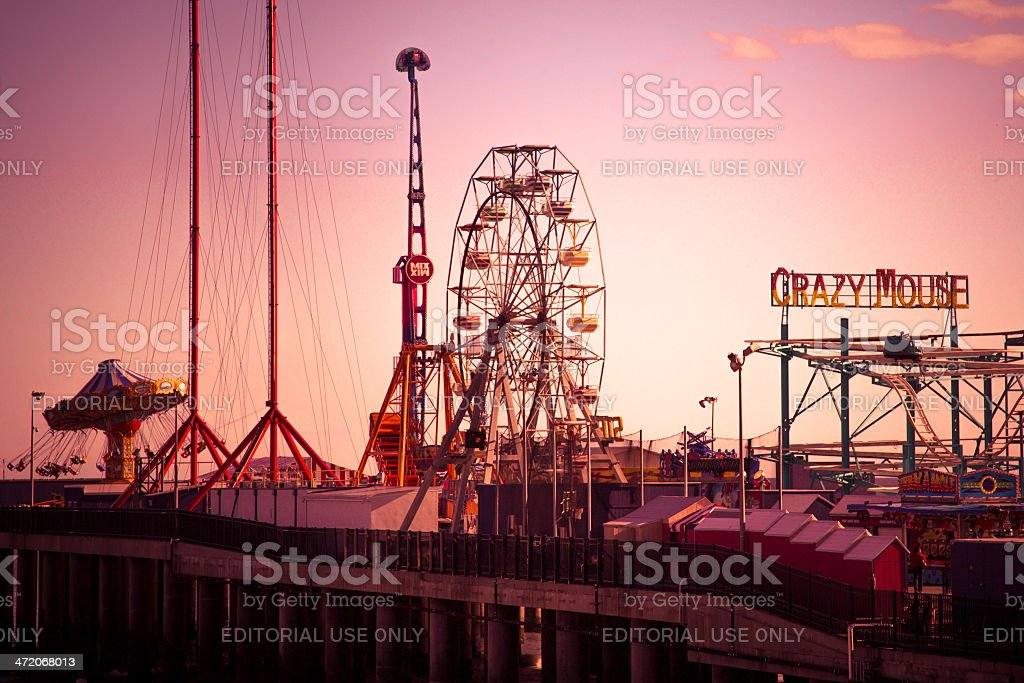Steel Pier Atlantic City stock photo