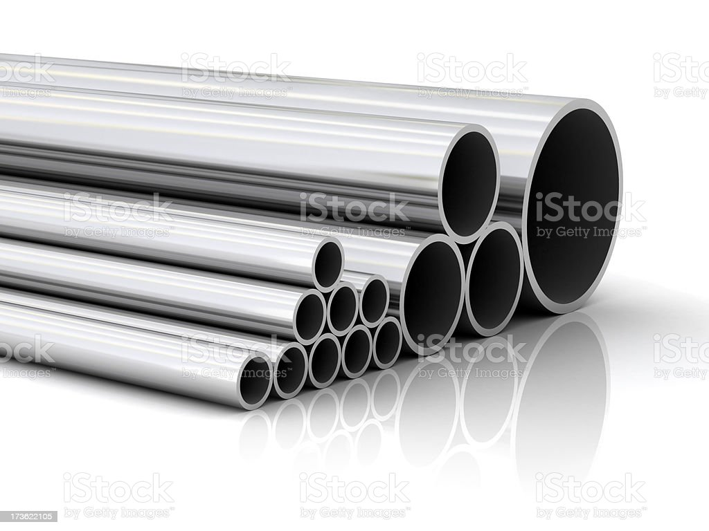 Steel pipes royalty-free stock photo