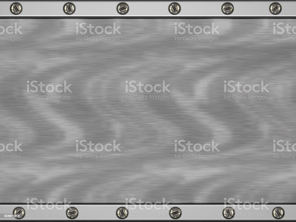 Steel Plate (3D) royalty-free stock photo