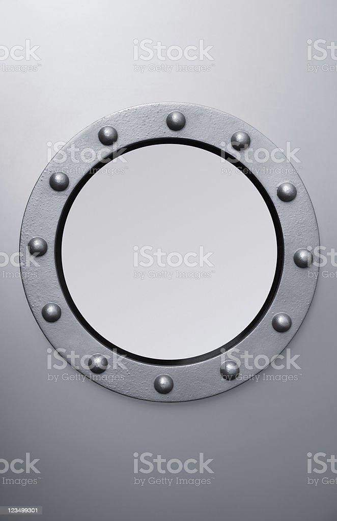 Steel Porthole stock photo