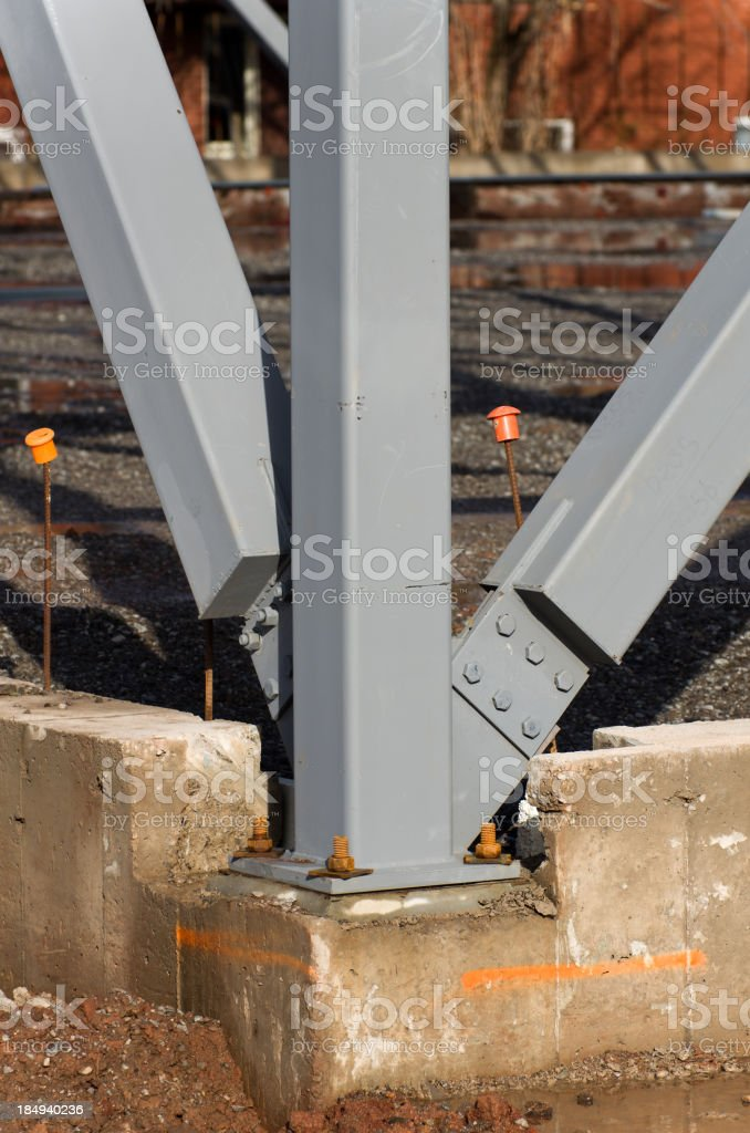 Steel Post Construction Background stock photo