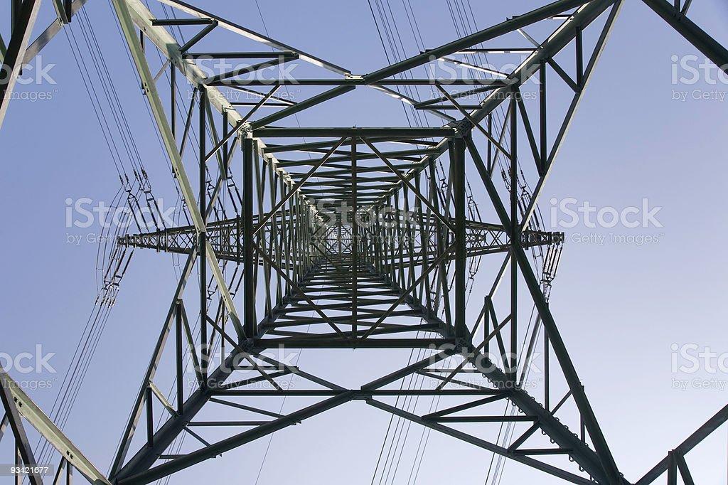 Steel Power Pole royalty-free stock photo