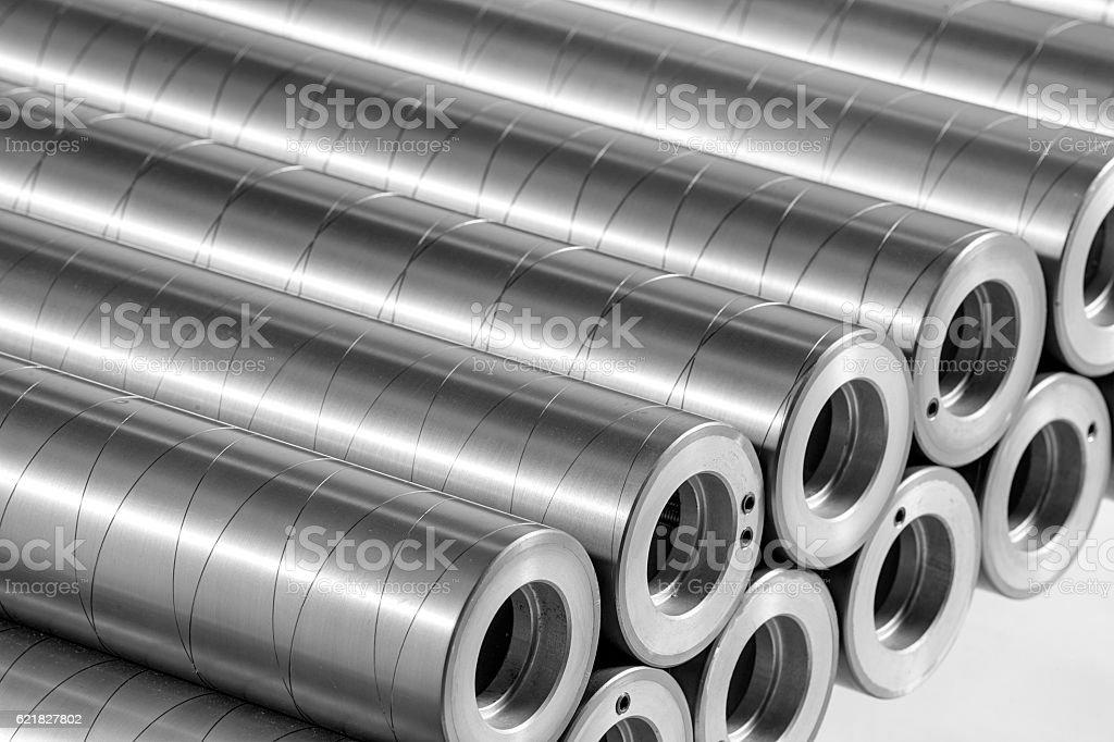 Steel Printing Cylinders stock photo
