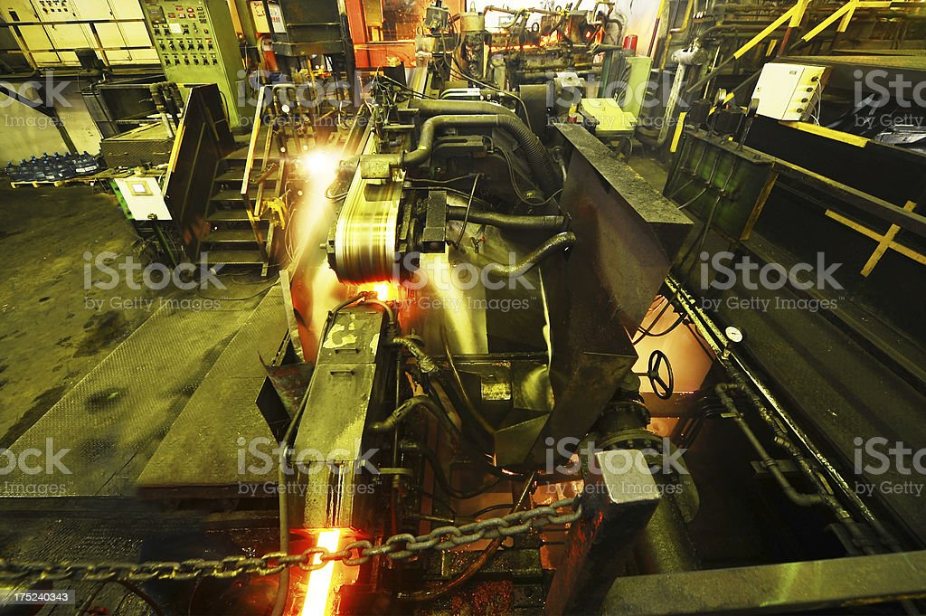 Steel production royalty-free stock photo