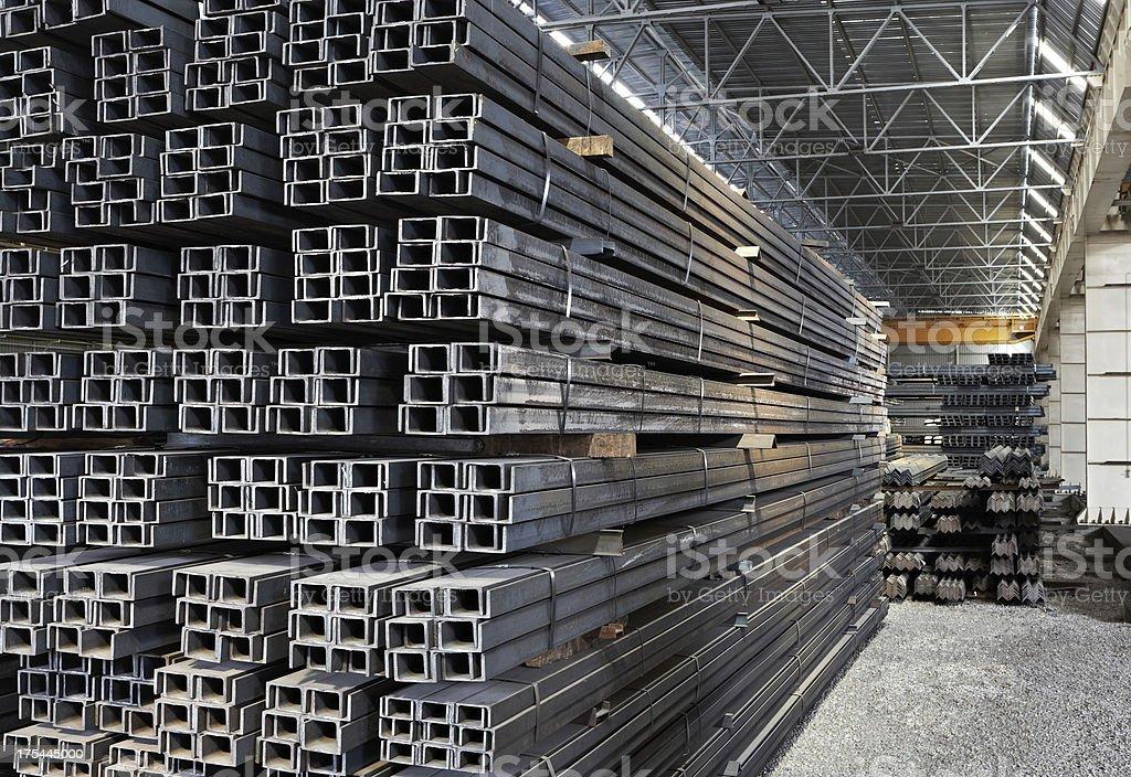 Steel Profiles stock photo