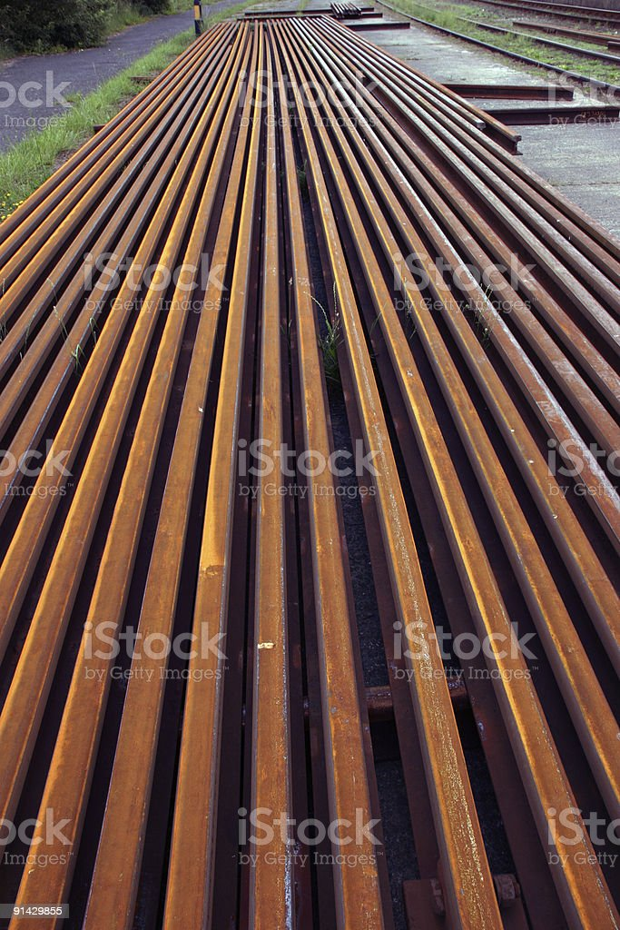 Steel rail 2 royalty-free stock photo