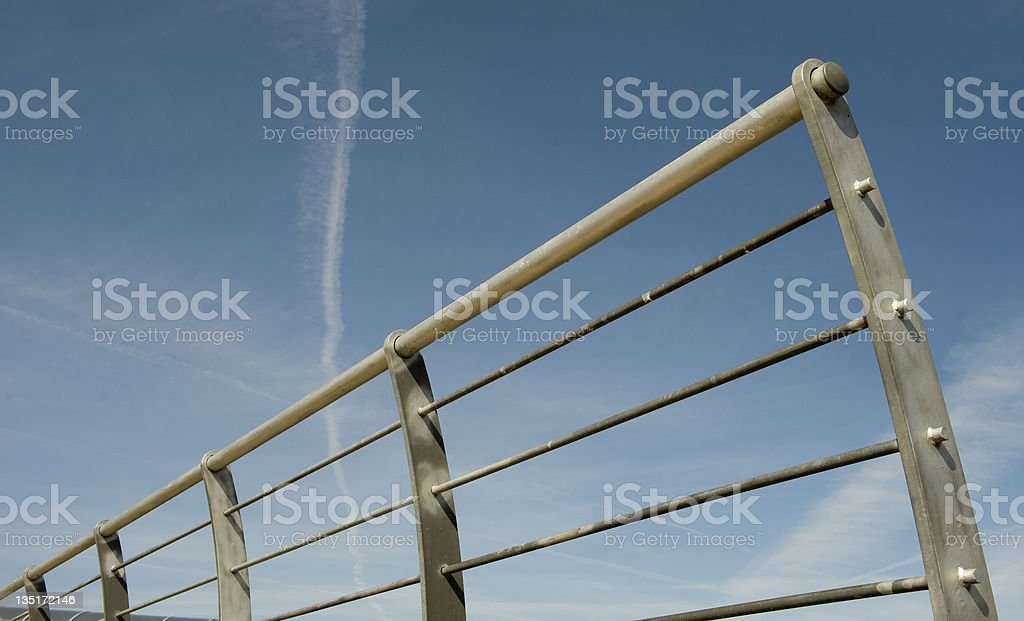 Steel Railings stock photo