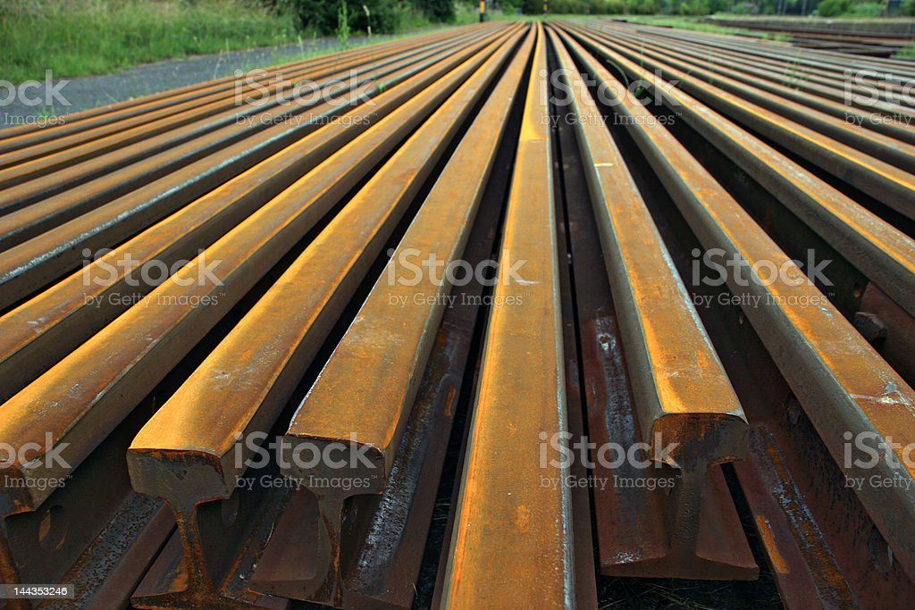 steel rails royalty-free stock photo