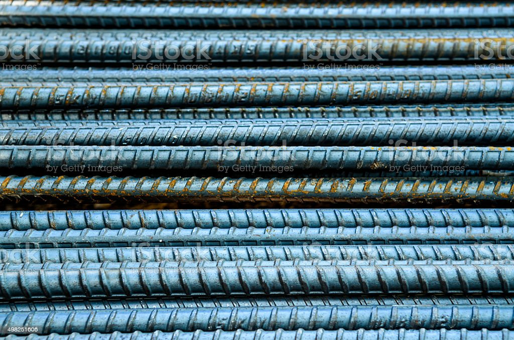 steel rebar sort background stock photo