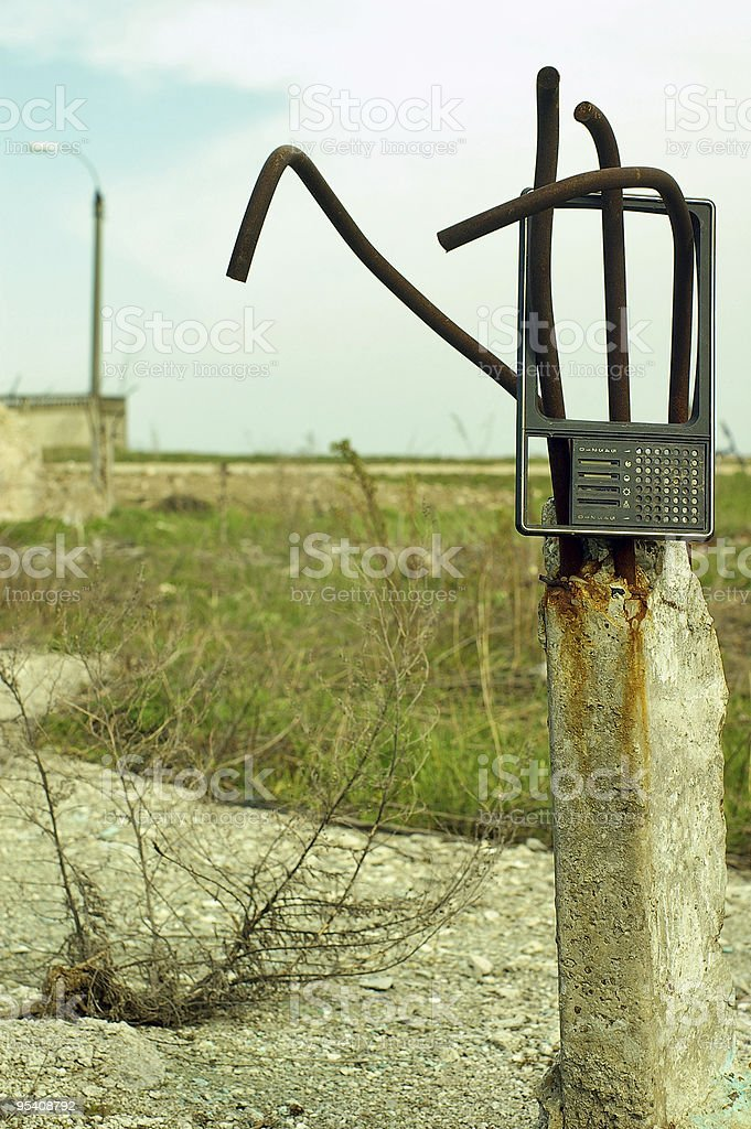 Steel reinforcement decay stock photo