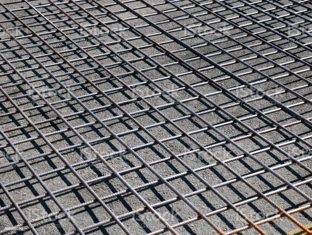Steel reinforcement stock photo