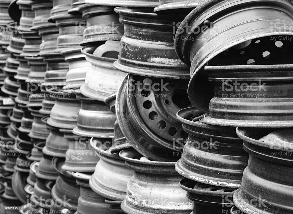 Steel Rims stock photo