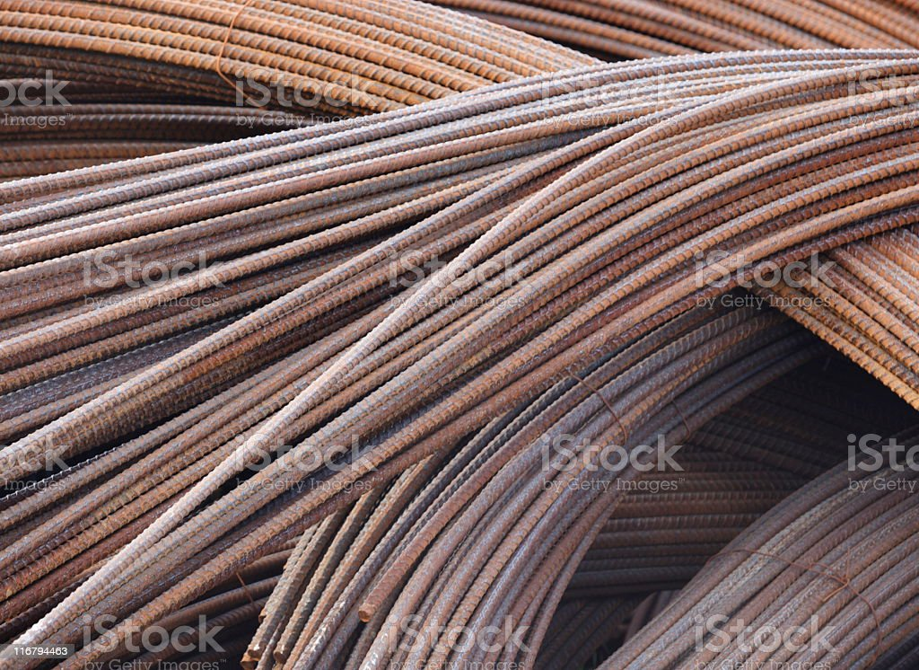 Steel Rod Construction Material stock photo