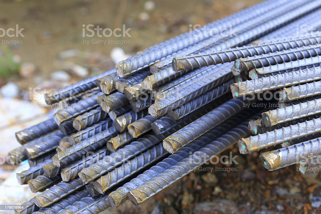 steel rod for construction job royalty-free stock photo