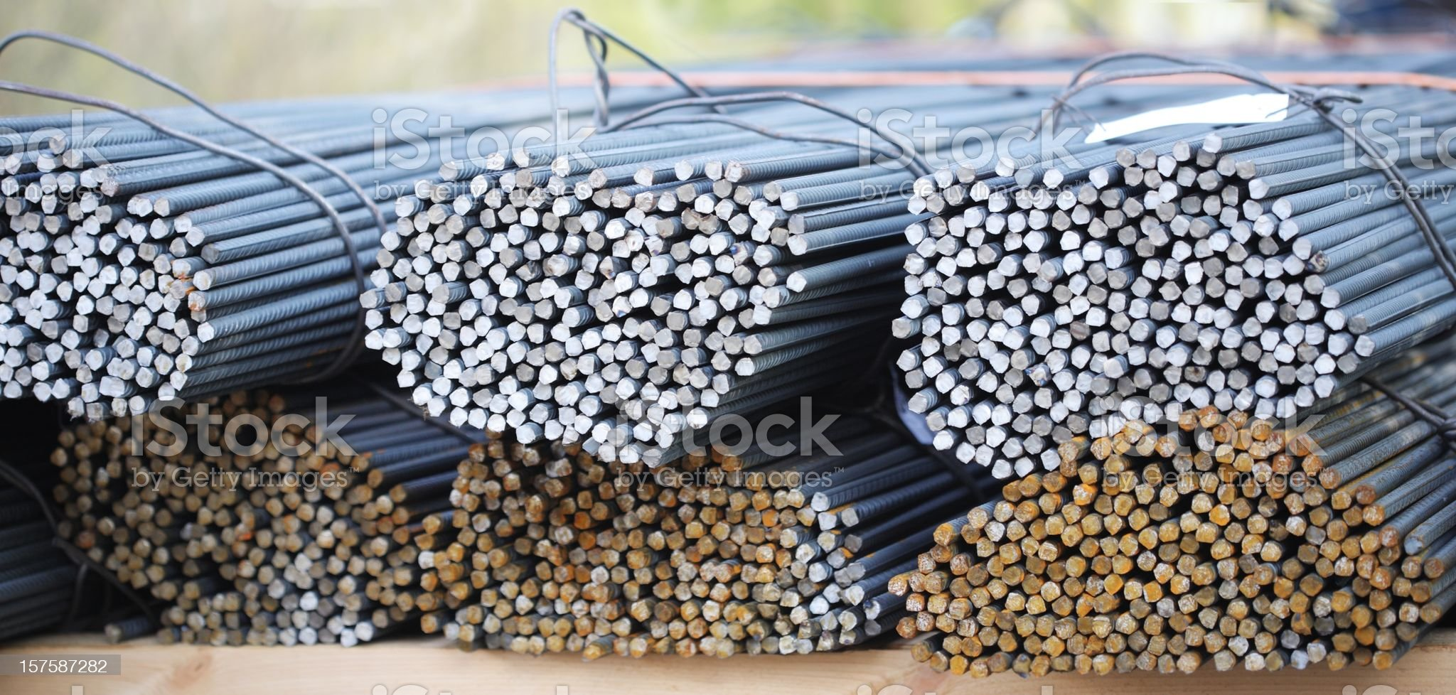 Steel rods for concrete constructions royalty-free stock photo