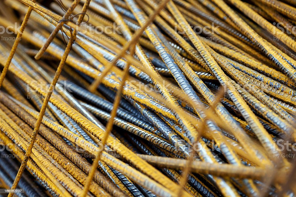 Steel Rods for Construction stock photo