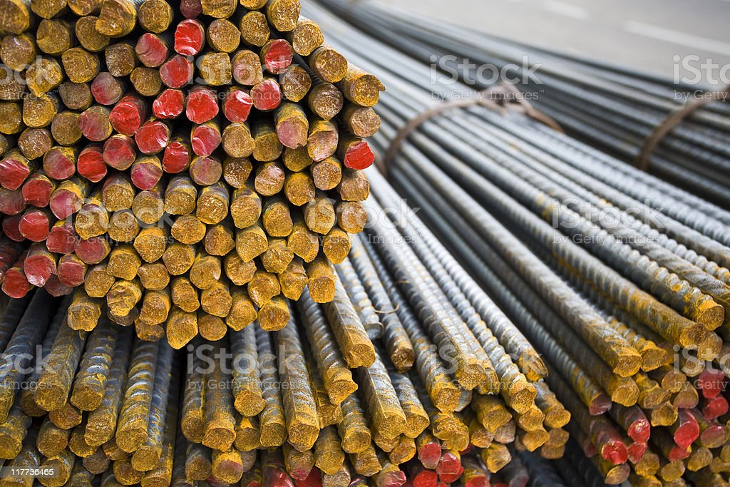 Steel rods royalty-free stock photo