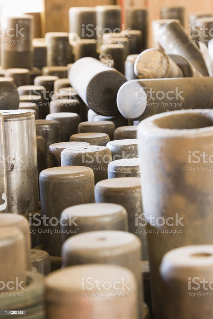 Steel Roller Pins stock photo