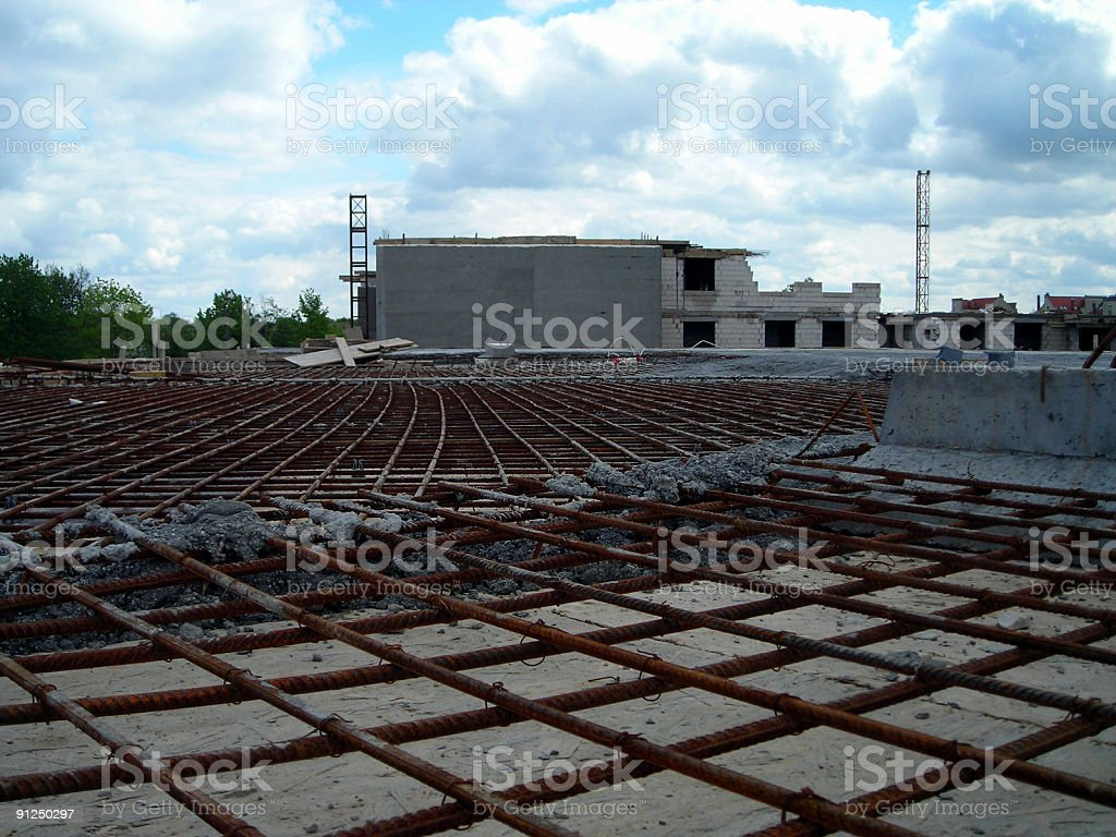Steel roof construction royalty-free stock photo