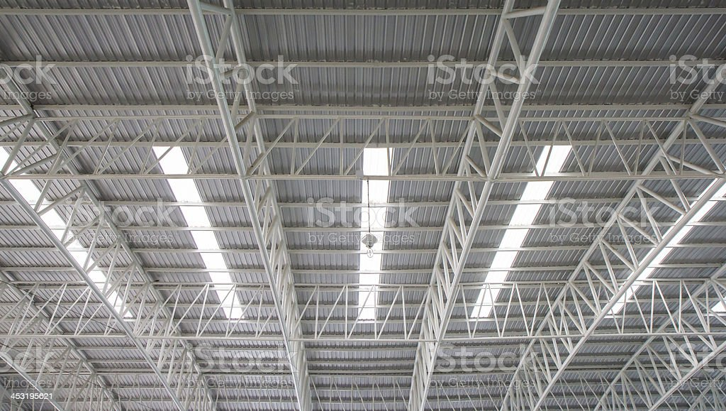 Steel roof. royalty-free stock photo