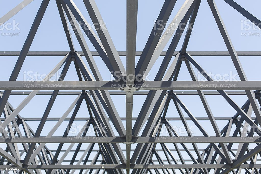 Steel Roof Trusses stock photo