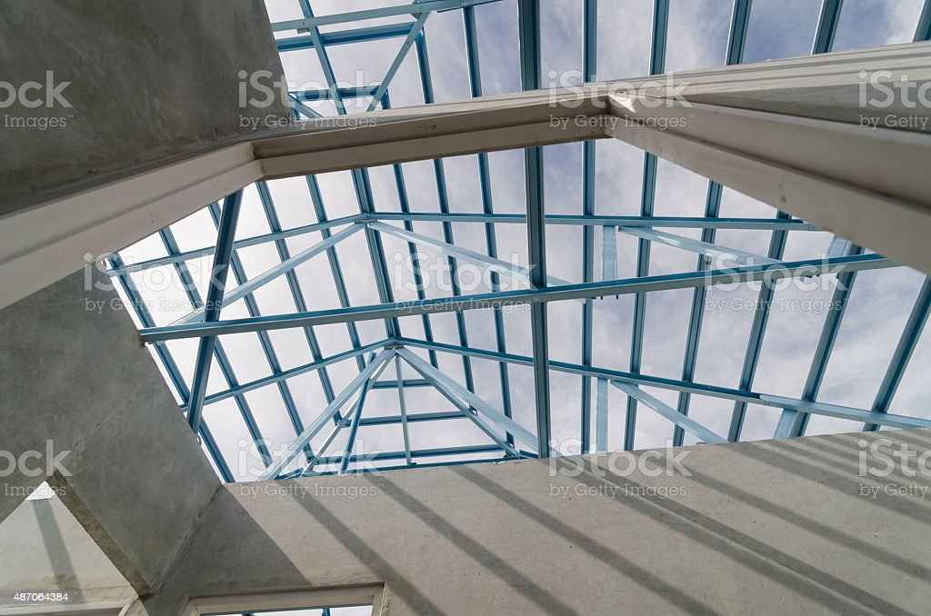 Steel Roof-22 stock photo