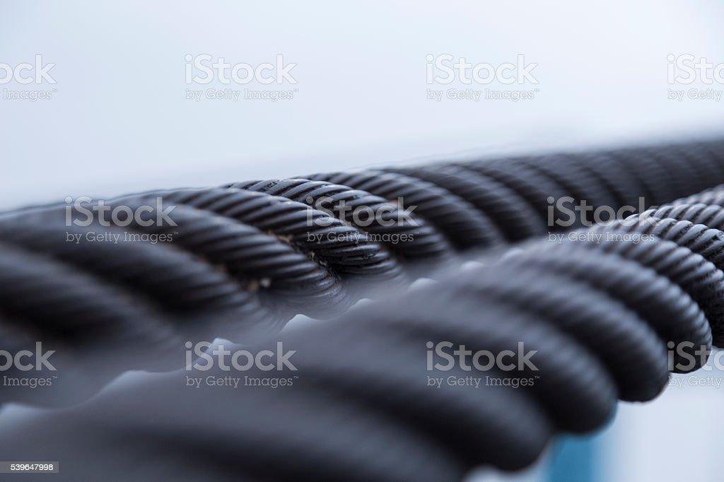 Steel Rope stock photo