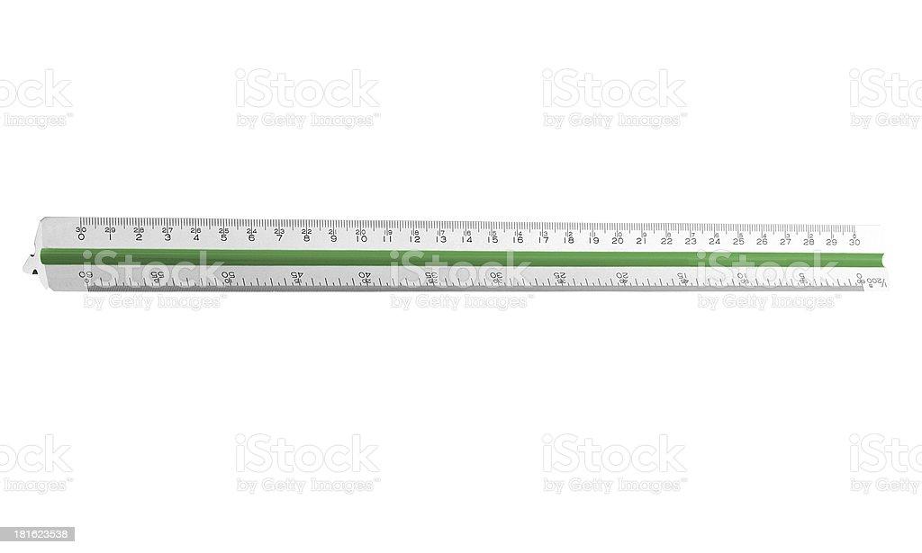 steel ruler stock photo